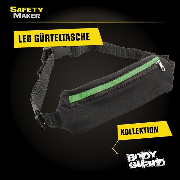 LED Gürteltasche schwarz grün