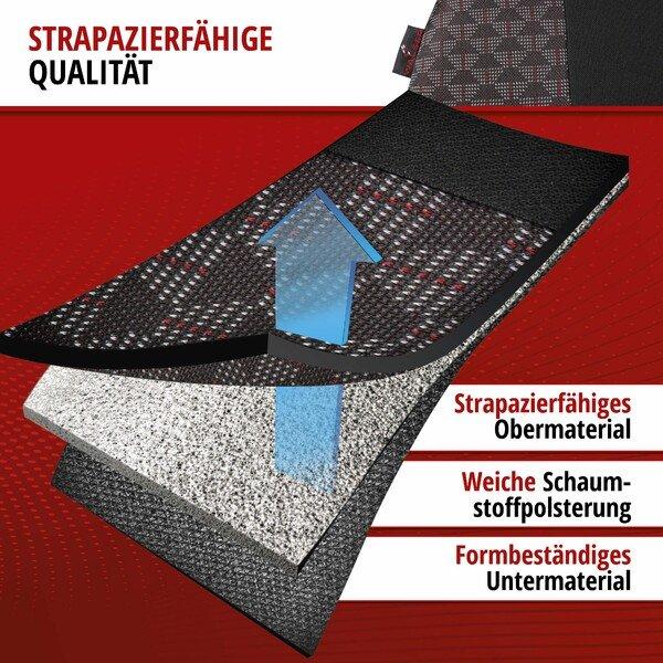 ZIPP IT Premium Autositzbezüge Redring für zwei Vordersitze mit Reißverschluss-System schwarz/rot