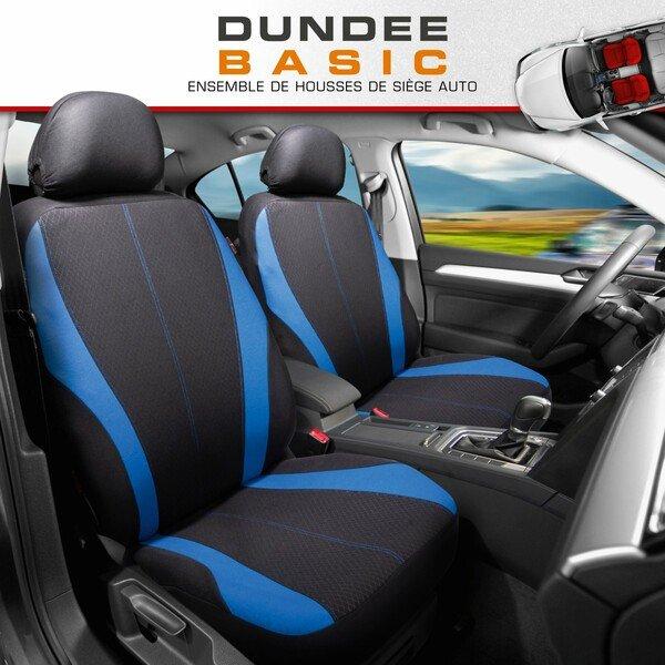 ZIPP IT Housse de sièges Dundee pour deux sièges avant avec système de fermeture éclair noir/bleu
