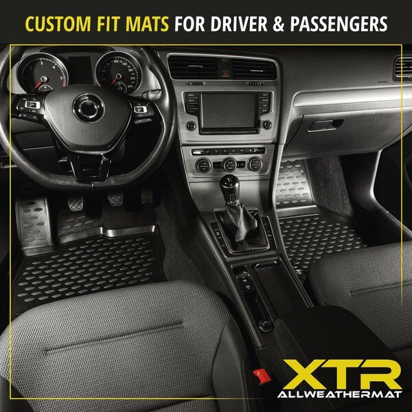 XTR rubber mats for VW Golf 7 year 2012 - Today, Golf 8 year 07/2019 - Today