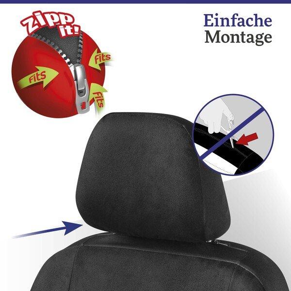 Autositzbezug Angelina verziert mit Kristallen von Swarovski® für einen Vordersitz