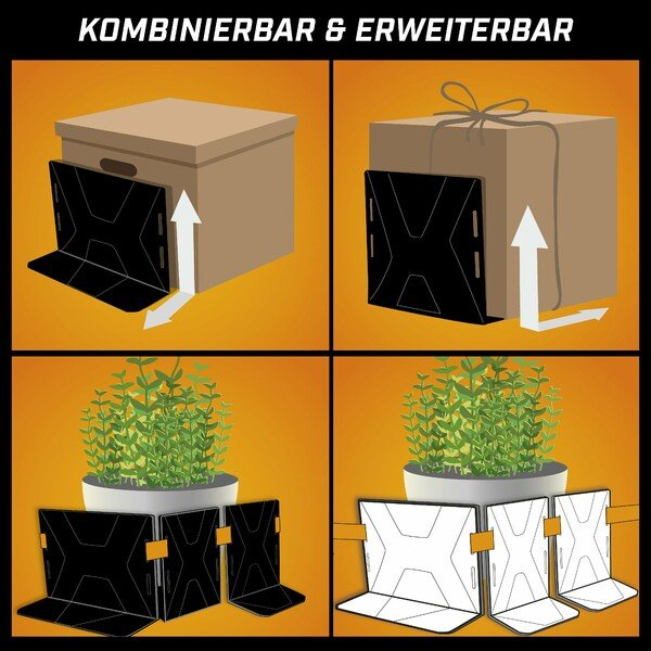 Kofferraum Ordnungshelfer Fast 1x L 1x Band schwarz/orange