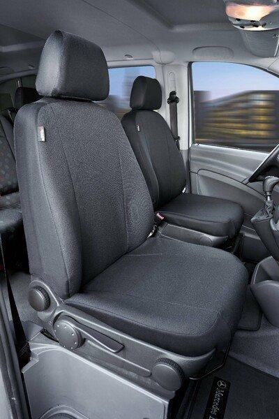 Autoschonbezug Transporter aus Stoff für Mercedes Vito/Viano, 2 Einzelsitze - kein Airbag