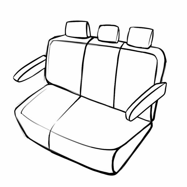 Seat cover Aversa for Mercedes-Benz VITO Mixto W447 10/2014- Today, 1 rear seat cover for normal seats