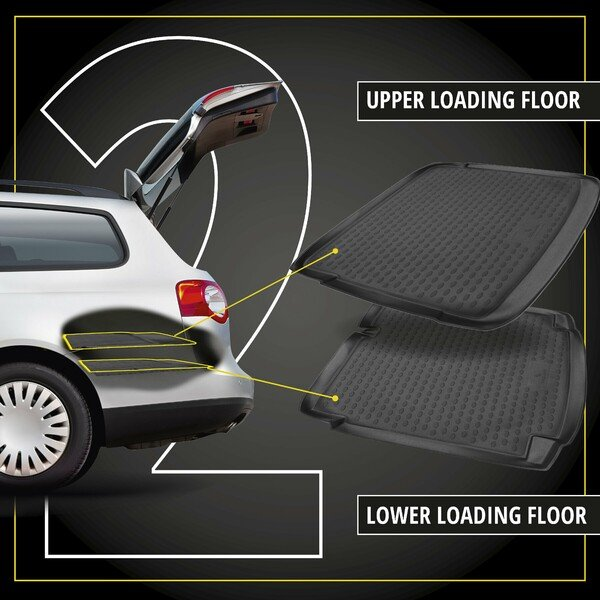 XTR Boot mat for Seat Alhambra II (7N) year 2010 - Today, 7-seater, 3rd row of seats upright (short mat)