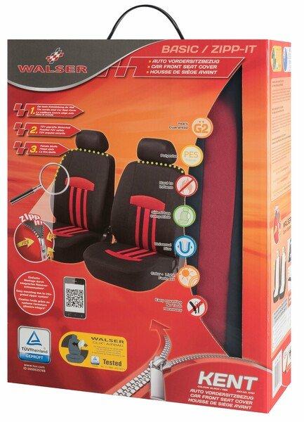 ZIPP-IT Basic Kent Basic rosso coprisedili auto Kent per due sedili anteriori con sistema a cerniera