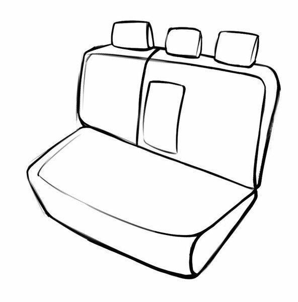 Seat cover Aversa for Nissan Qashqai II 11/2013- Today, 1 rear seat cover for normal seats