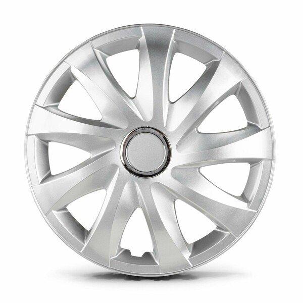 "Wheel covers Drifter 16"", 4 piece silver"