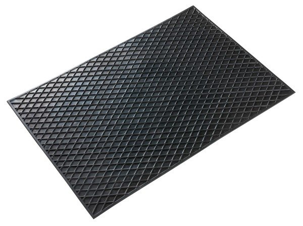Tapis en caoutchouc rectangle env. 70x50 cm noir