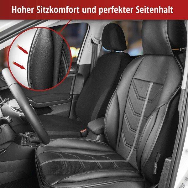 PKW Sitzauflage Kimi schwarz grau