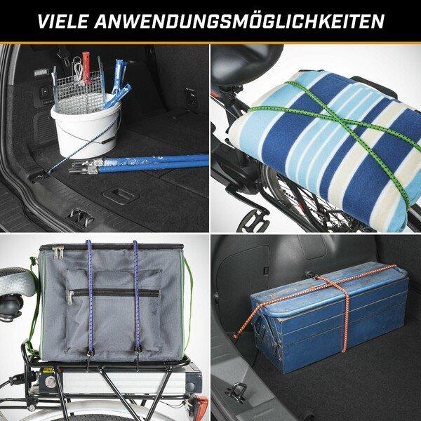 Spannbandset 15 Stück Gepäckspanner