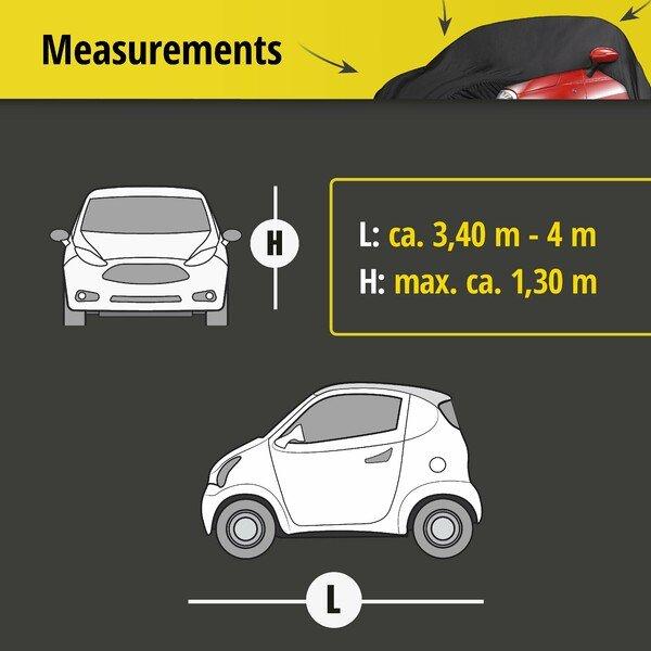 Car tarpaulin Indoor Soft size 1 black