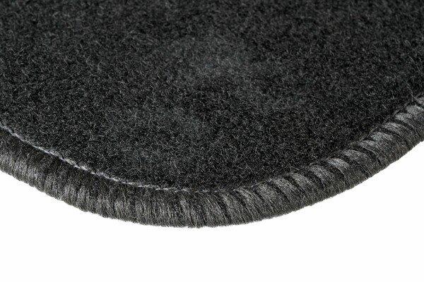 Tapis de voiture en velours noir