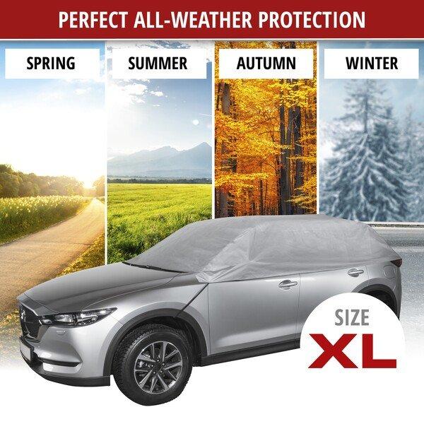 Car tarpaulin All Weather Light half garage size XL light grey
