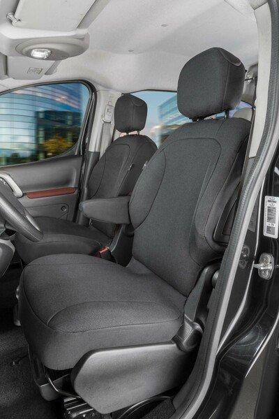 Autoschonbezug Transporter aus Stoff für Citroen Berlingo, 2 Einzelsitze vorne