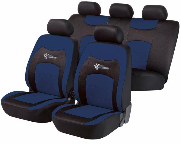 ZIPP-IT Basic RS Racing blue car Seat covers with zipper system
