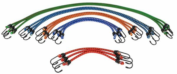 Set of 15 luggage straps 30, 45, 60, 80, 100cm in yellow, green, red, blue, white