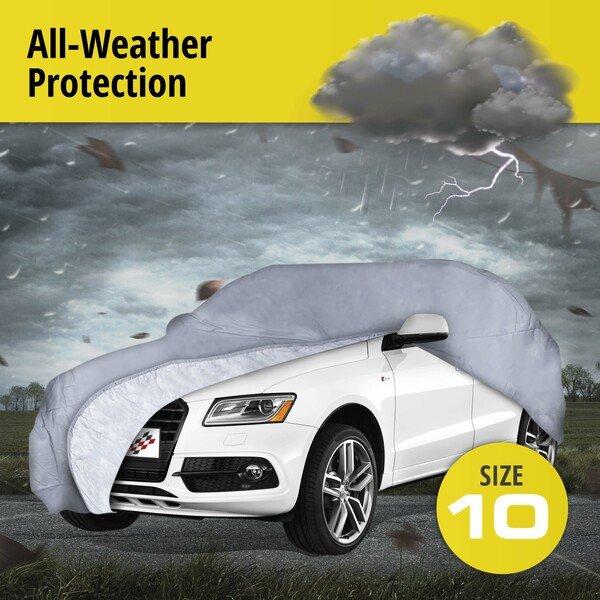 Car tarpaulin All Weather Premium size 10 grey