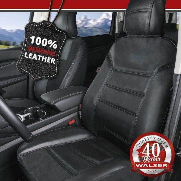 Autositzbezug Billy aus echtem Leder schwarz ZIPP-IT