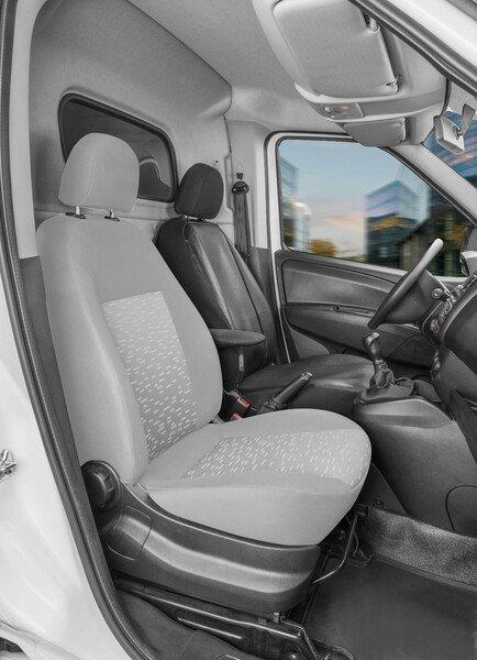 Housse de siège Transporter en simili cuir pour Opel Combo D, siège conducteur unique