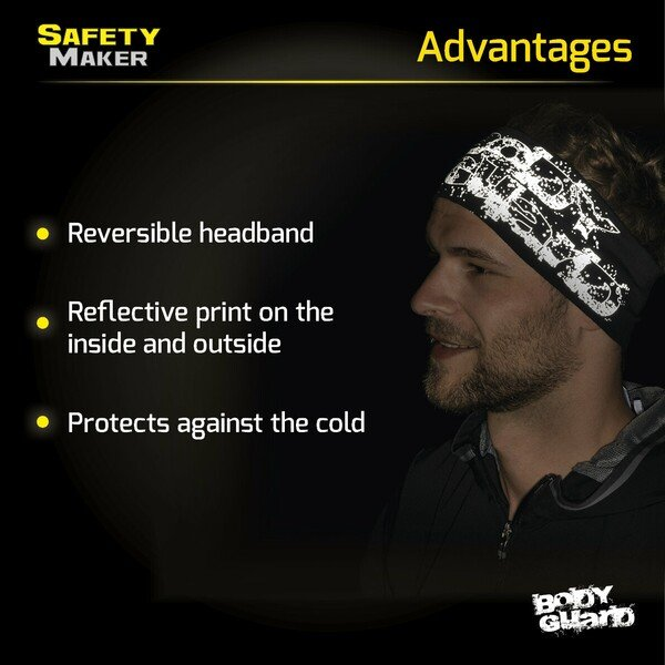 reversible headband black-silver