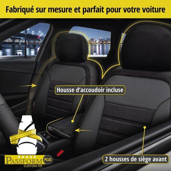 Housse de siège Bari pour VW Tiguan (AD1) année 01/2016-aujourd'hui, 2 housses de siège pour sièges normaux