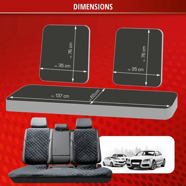 Comfortline Luxor, 1 rear seat cover