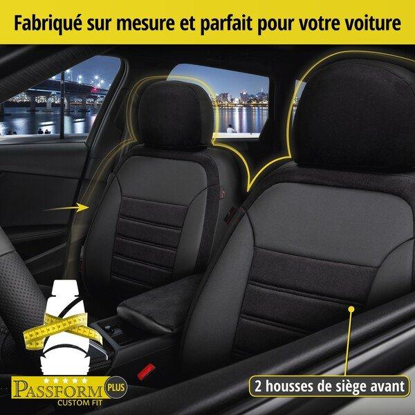 Housse de siège Bari pour Opel Mokka/Mokka X (J13) année 06/2012-aujourd'hui, 2 housses de siège pour sièges normaux