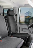 Car Seat covers for VW T4 single front seat made of fabric for year of construction 10/1998 - 03/2003