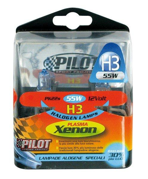 Xenon-H3 Halogen bulbs 55W 12V