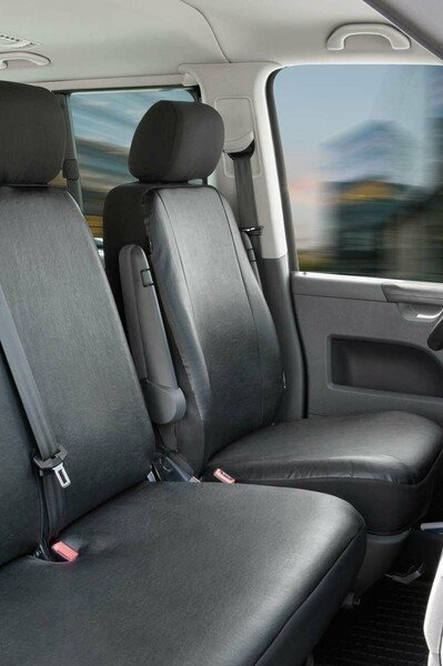 Car Seat covers for VW T4 single front seat in imitation leather for year of construction 10/1998 - 03/2003