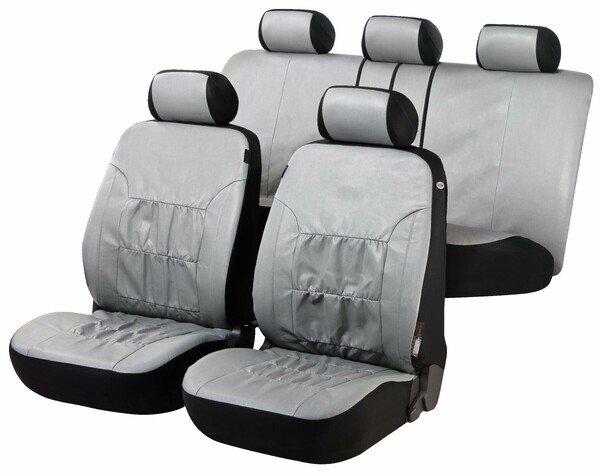 Housses de sièges Nappa Touch gris imitation cuir