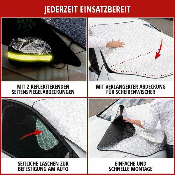 Premium Thermoscheibenschutz mit Seitenspiegelabdeckung 147x120 cm