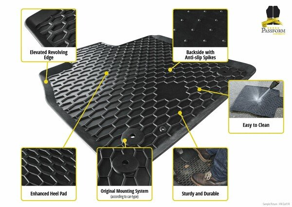 Rubber mats for Alfa Romeo 147 year of construction 2000 - 2010