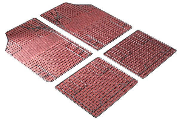 Rubber mats New Style red black, cut to size