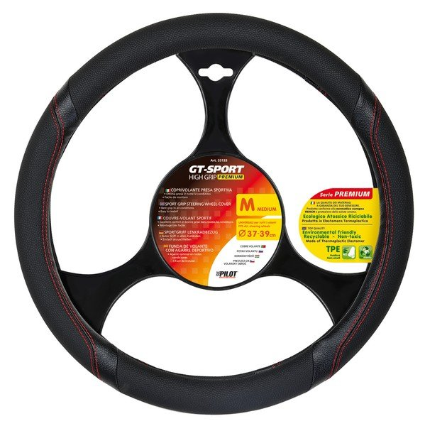 steering wheel cover with sport handle size M 37-39 cm