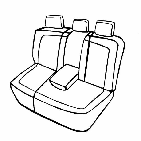 Seat cover Bari for Skoda Kodiaq (NS7, NV7) 10/2016- Today, 1 rear seat cover for sport seats