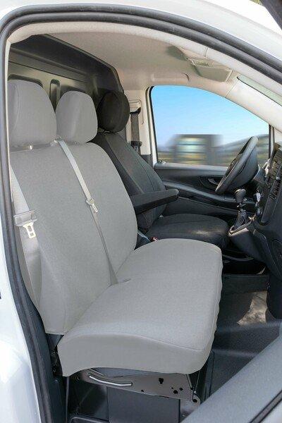 Autositzbezüge für Mercedes-Benz Vito 447 Einzelsitz Fahrer vorne mit Armlehne innen aus Stoff ab Baujahr 06/2014 - heute
