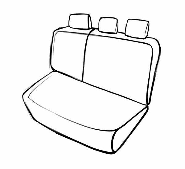 Coprisedili Bari per Dacia Sandero II 10/2010 - Oggi, 1 Coprisedili posteriore per sedili normali