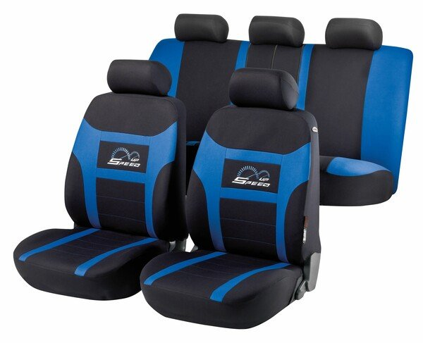 Car Seat cover Speed Up blue complete set