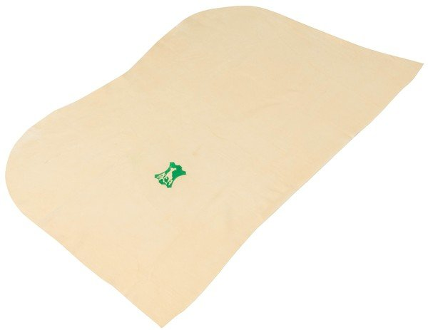 Chamois cloth beige, 42 x 30 cm natural form