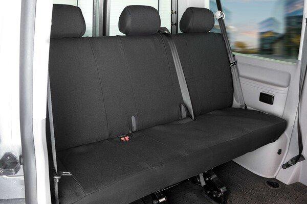 Housse de siège Transporter en tissu pour VW T5, banquette 3 places