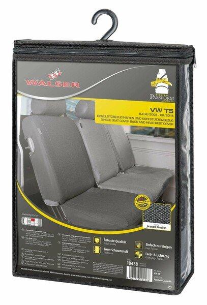 Housse de siège Transporter en simili cuir pour VW T5, siège arrière simple
