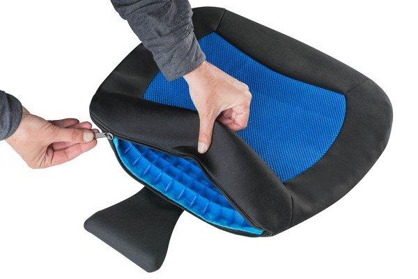 Coussin de siège Cool Touch noir-bleu