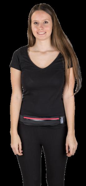 Pochette de ceinture LED noir rouge