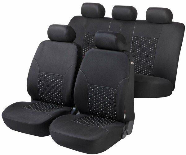 Housse de siège voiture DotSpot gris noir Premium Set