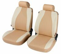 Housses de sièges Mijas beige pour deux sièges avant