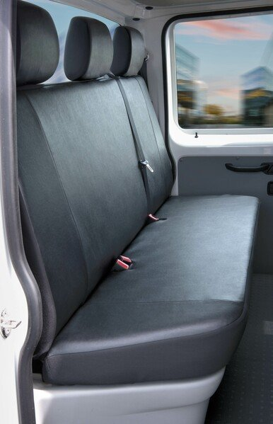 Car Seat covers for VW T5 3er bench platform made of imitation leather year of construction 04/2003-06/2015