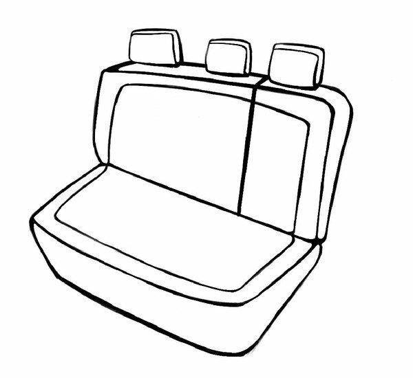 Passform Sitzbezug Aversa für Opel Astra 06/2015-Heute, 1 Rücksitzbankbezug für Sportsitze