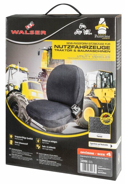 Semi-fit Seat cover for tractors and construction machinery - size 4